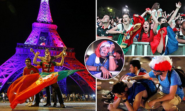 Portugalští fanoušci v Paříži